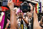 Winner of the heels race of the lgtb pride party of Madrid. July 4, 2019. (ALTERPHOTOS/JOHANA HERNANDEZ)