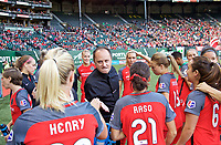 Portland, OR - Wednesday June 28, 2017: Mark Parsons during a regular season National Women's Soccer League (NWSL) match between the Portland Thorns FC and FC Kansas City at Providence Park.
