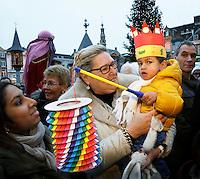 Nederland Den Bosch 2017-01-08.  Driekoningen viering. Optocht over de Markt.  Foto Berlinda van Dam / Hollandse Hoogte