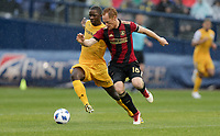 Nashville, TENN. - Saturday February 10, 2018: Jeff Larentowicz during a preseason exhibition match between Nashville SC vs Atlanta United FC at First Tennessee Park.