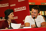 """Robin Strasser and John-Paul Lavoisier will be reading passages Red Carpet Riot by """"David Van Etten"""" who is actually three writters: Emmy-winning OLTL scribe Chris Van Etten and his friends David Levithan and David Ozanich on August 15, 2009 at Borders, Time Warner Center Mall, New York City, New York. (Photo by Sue Coflin/Max Photos)"""