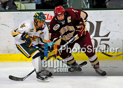 10 January 2009: Boston College Eagles' forward Brock Bradford (19), a Senior and Team Captain from Burnaby, BC, in action during the second matchup of a weekend series against the University of Vermont Catamounts at Gutterson Fieldhouse in Burlington, Vermont. The Catamounts rallied from an early 2-0 deficit to defeat the visiting Eagles 4-2. Mandatory Photo Credit: Ed Wolfstein Photo
