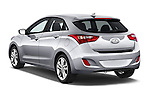 Car pictures of rear three quarter view of 2017 Hyundai Elantra Gt 5 Door Hatchback angular rear