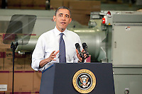 HATFIELD, PA - NOVEMBER 30 :  President Obama gives tax speech at The Rodon Group in Hatfield, Pa on November 30, 2012  © Star Shooter / MediaPunch Inc /NortePhoto