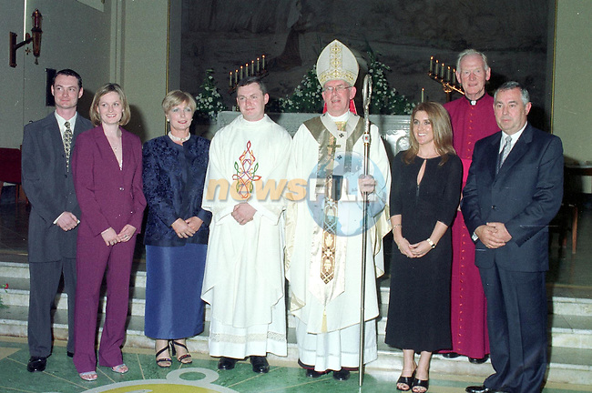 Fr Michael Sheehan being ordained in the Lourdes Church in Drogheda by ArchBishop Sean Brady. Pictured with his family.Picture Des Clinton Newsfile