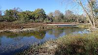 NWA Democrat-Gazette/FLIP PUTTHOFF <br /> Forested banks are typical of the shoreline   Nov. 11 2016     on the lower end of the Elk River.