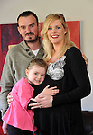 "3-3-2012: ""I hope its twims Mum"" says Liadain to expectant mum Toireasa Ferris and Dad Pat Kelly at their home in Ardfert, County Kerry on Tuesday. Ms Ferris announced she was stepping down from Tralee Town Council..Picture by Don MacMonagle"