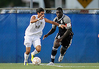 Florida International University men's soccer player Lucas Di Croce (10) plays against Nova University on August 26, 2011 at Miami, Florida. FIU won the game 2-0. .