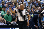 05 February 2017: Referee Bill Covington. The University of North Carolina Tar Heels hosted the University of Notre Dame Fighting Irish at the Greensboro Coliseum in Greensboro, North Carolina in a 2016-17 Division I Men's Basketball game. The game had been postponed one day and moved from Chapel Hill due to a water shortage. UNC won the game 83-76.