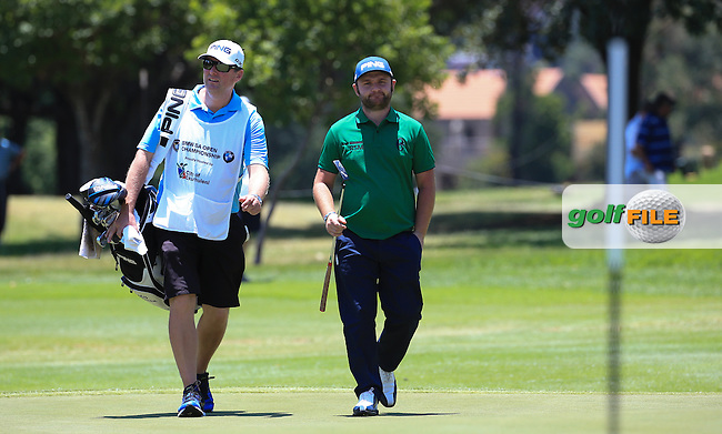 Defending Champion  Andy Sullivan(ENG) reaches his last hole (the 9th) during Round Two of the 2016 BMW SA Open hosted by City of Ekurhuleni, played at the Glendower Golf Club, Gauteng, Johannesburg, South Africa.  08/01/2016. Picture: Golffile | David Lloyd<br /> <br /> All photos usage must carry mandatory copyright credit (&copy; Golffile | David Lloyd)