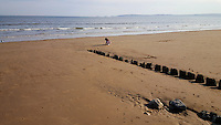 Pictured: A sequence of three photographs taken within minutes of each other showing the rising tide as it comes in Swansea Bay in the early evening of Saturday 07 May 2016<br /> Re: Sunshine and high temperatures have been forecast for most of the UK.