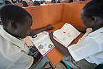Students study in the Loreto Girls Secondary School outside Rumbek, South Sudan. The school is run by the Institute for the Blessed Virgin Mary--the Loreto Sisters--of Ireland.