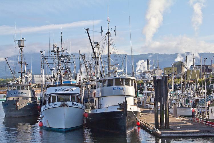 Vancouver Island, Alberni Inlet, Port Alberni, harbor, fishing boats, British Columbia, Canada,