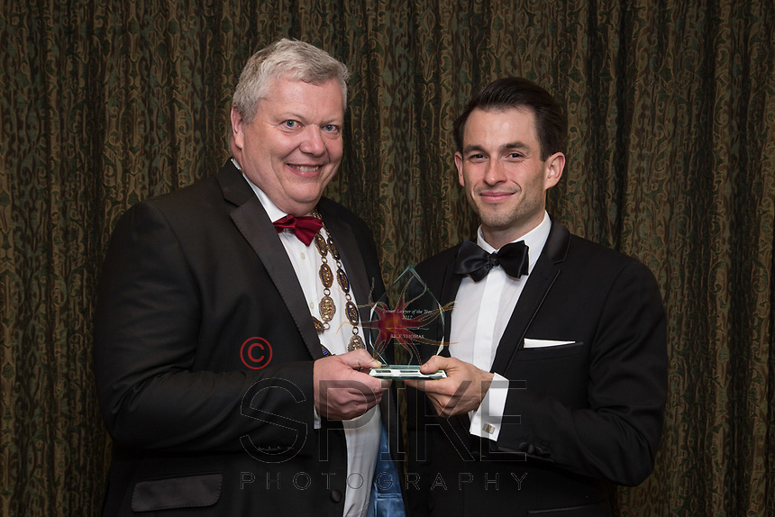 Pictured with Michael Auty QC, President of the Nottinghamshire Law Society is Rick Thomas - Junior Lawyer of the Year