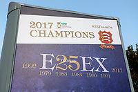 2017 Champions signage on display during Essex CCC vs Yorkshire CCC, Specsavers County Championship Division 1 Cricket at The Cloudfm County Ground on 26th September 2017
