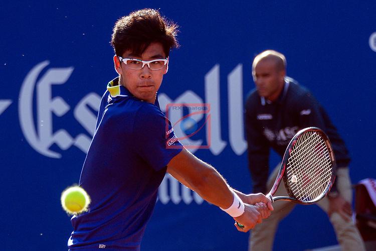 65e Trofeu Conde de Godo.<br /> Barcelona Open Banc Sabadell.<br /> Hyeon Chung (KOR) vs Rafa Nadal (ESP): 6-7, 2-6.
