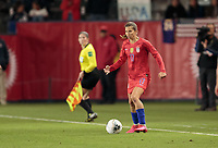 CARSON, CA - FEBRUARY 7: Tobin Heath #17 of United States moves with the ball during a game between Mexico and USWNT at Dignity Health Sports Park on February 7, 2020 in Carson, California.