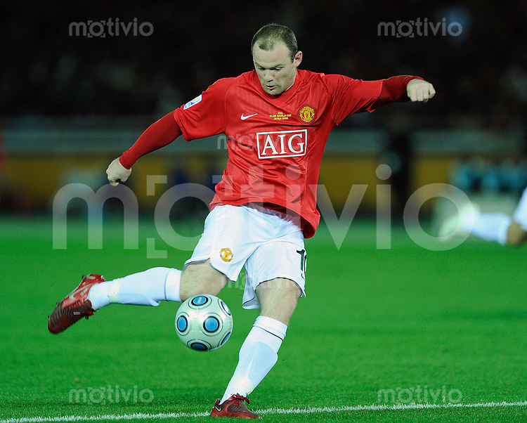 Fussball international 2008/2009 21.12.2008  FIFA Club WM Japan 2008 Finale Liga de Quito - Manchester United Wayne ROONEY (ManU).