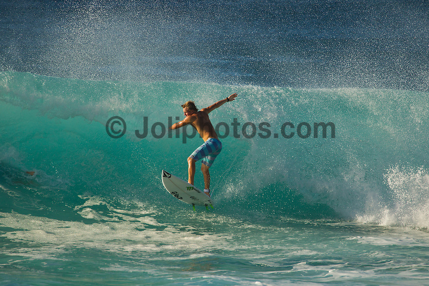 North Shore/Oahu/Hawaii (Thursday, December 15, 2011) Dusty Payne (HAW). – Free surfing sessions at Backdoor and Off The Wall on Oahu's North Shore. Photo: joliphotos.com