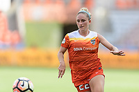 Houston, TX - Saturday May 27, 2017: Camille Levin chases after a loose ball during a regular season National Women's Soccer League (NWSL) match between the Houston Dash and the Seattle Reign FC at BBVA Compass Stadium.