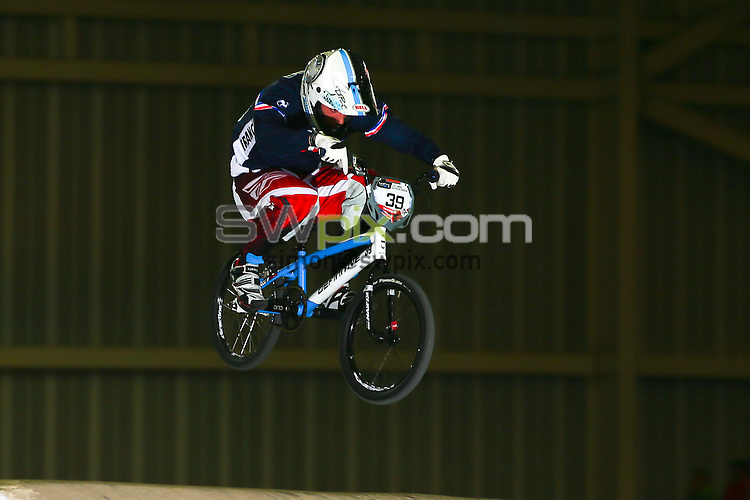 Picture by Alex Whitehead/SWpix.com - Cycling - 2014 UCI BMX Supercross World Cup - National BMX Centre, Manchester, England - 19/04/14 - Sylvain Andre