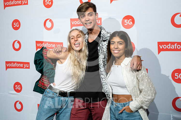 Africa Adalia, Dave Zulueta, Maria Escarmiento during the photocall of VODAFONE YU MUSIC SHOWS<br /> ESTOPA  in Concert. <br /> <br /> October 2, 2019. (ALTERPHOTOS/David Jar)