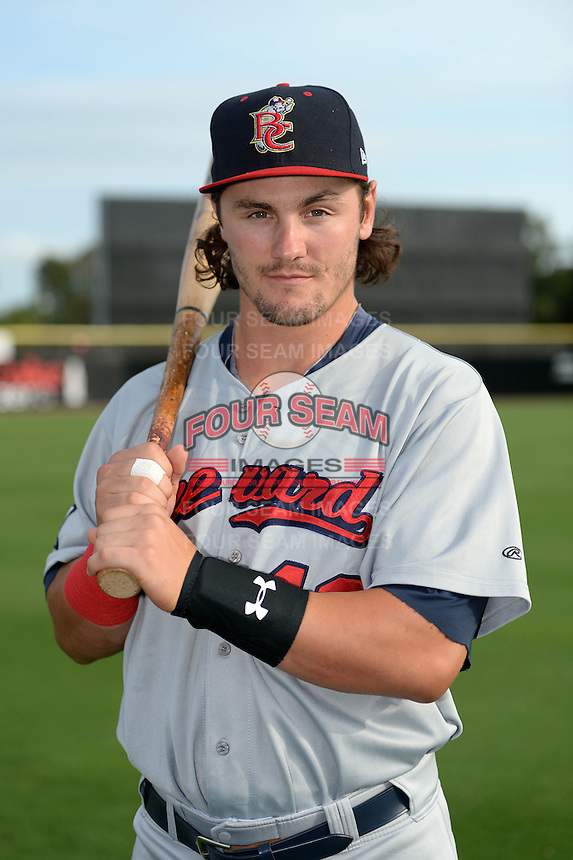 Brevard County Manatees outfielder Clint Coulter (40) poses for a photo before a game against the Dunedin Blue Jays on April 23, 2015 at Florida Auto Exchange Stadium in Dunedin, Florida.  Brevard County defeated Dunedin 10-6.  (Mike Janes/Four Seam Images)