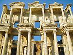 The facade of the Celsus Library in the ancient Turkish city of Ephesus. c 135 AD