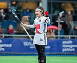 AMSTELVEEN -  Eva de Goede (A'dam) heeft gescoord     tijdens de hoofdklasse competitiewedstrijd dames, Pinoke-Amsterdam (3-4). COPYRIGHT KOEN SUYK