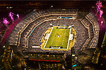 Aerial  view of Philadelphia Eagles vs Cleveland Browns at Lincoln Financial Field on December 15th 2008 Monday Night Game during Pregame Ceremony.