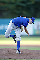 June 23, 2009:  Pitcher Zach Outman of the Auburn Doubledays delivers a pitch during a game at Russell Diethrick Park in Jamestown, NY.  The Doubledays are the NY-Penn League Short-Season A affiliate of the Toronto Blue Jays.  Photo by:  Mike Janes/Four Seam Images