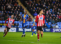 Lincoln City's Tyler Walker celebrates scoring his side's equalising goal to make the score 1-1<br /> <br /> Photographer Andrew Vaughan/CameraSport<br /> <br /> The EFL Sky Bet League One - Shrewsbury Town v Lincoln City - Saturday 11th January 2020 - New Meadow - Shrewsbury<br /> <br /> World Copyright © 2020 CameraSport. All rights reserved. 43 Linden Ave. Countesthorpe. Leicester. England. LE8 5PG - Tel: +44 (0) 116 277 4147 - admin@camerasport.com - www.camerasport.com