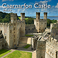 Caernarfon Castle or Carnarvon Castle Wales - Pictures Images Photos