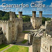 Caernarfon Castle or Carnarvon Castle Wales - Pictures Images Photos