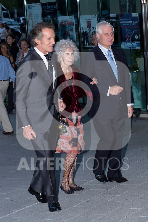 09.10.2012. Dukes of Alba Alfonso Diez and Cayetana Martinez de Irujo, and Carlos Fitz-James Stuart  attend concert in Ainhoa Arteta at the Teatros del Canal in Madrid, Spain. In the image (L-R) Dukes of Alba Alfonso Diez and Cayetana Martinez de Irujo, and Carlos Fitz-James Stuart (Alterphotos/Marta Gonzalez)