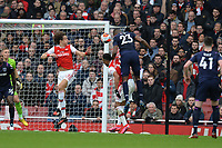 Issa Diop of West Ham United heads wide during Arsenal vs West Ham United, Premier League Football at the Emirates Stadium on 7th March 2020