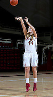 Karlie Samuelson with Stanford Women's basketball team. Photo taken on Wednesday, October 2, 2013