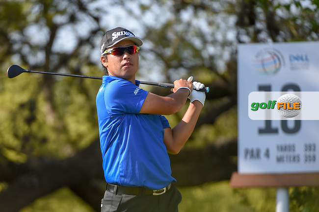 Hideki Matsuyama (JPN) watches his tee shot on 10 during day 1 of the WGC Dell Match Play, at the Austin Country Club, Austin, Texas, USA. 3/27/2019.<br /> Picture: Golffile | Ken Murray<br /> <br /> <br /> All photo usage must carry mandatory copyright credit (© Golffile | Ken Murray)
