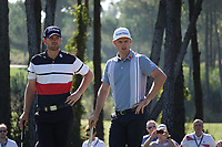 Justin Rose (ENG) & Bernd Wiesberger (AUT) during the first round of the Turkish Airlines Open, Montgomerie Maxx Royal Golf Club, Belek, Turkey. 07/11/2019<br /> Picture: Golffile | Phil INGLIS<br /> <br /> <br /> All photo usage must carry mandatory copyright credit (© Golffile | Phil INGLIS)