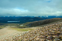 Loch Morlich and Meall a Bhuachaille from Fiacaill a' Choire Chais, Cairngorm National Park, Badenoch and Speyside, Highland