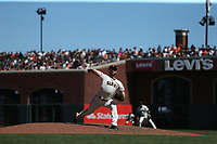 SAN FRANCISCO, CA - JULY 22:  Sam Dyson #49 of the San Francisco Giants pitches against the San Diego Padres during the game at AT&T Park on Saturday, July 22, 2017 in San Francisco, California. (Photo by Brad Mangin)