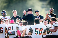 Occidental College football team plays against Claremont-Mudd-Scripps on Oct 12, 2013 in Claremont. (Photo by Kirby Lee)