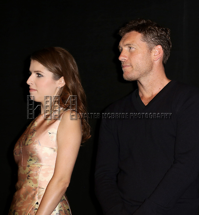 Anna Kendrick and Sam Worthington attends the Presentation for 'Cake' at the Elgin Theatre during the 2014 Toronto International Film Festival on September 8, 2014 in Toronto, Canada.
