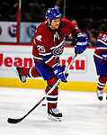 4 December 2008: Montreal Canadiens' defenseman Mathieu Dandenault warms up prior to facing the New York Rangers for their first meeting of the season at the Bell Centre in Montreal, Quebec, Canada. The Canadiens, celebrating their 100th season, played in the circa 1915-1916 uniforms for the evenings' Original Six matchup. *****Editorial Use Only*****..Mandatory Photo Credit: Ed Wolfstein Photo