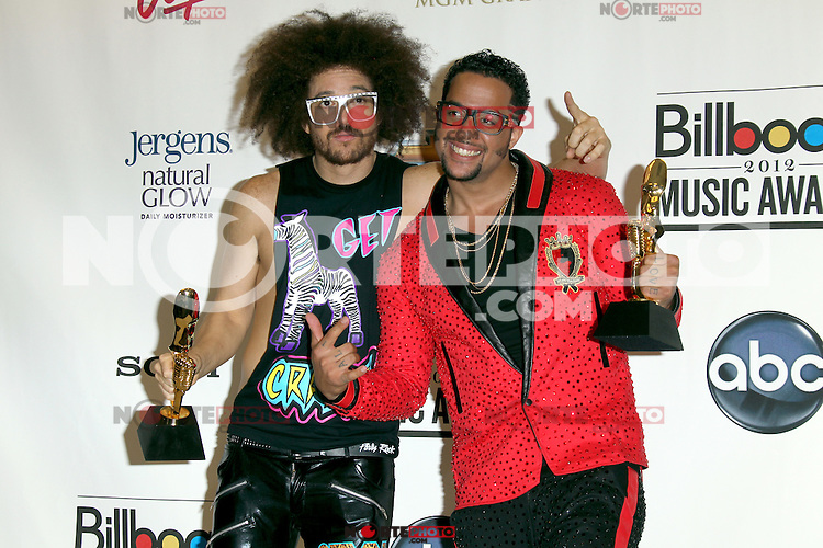 LMFAO at the 2012 Billboard Music Awards pressroom held at the MGM Grand Garden Arena on May 20, 2012 in Las Vegas, Nevada. © mpi28/MediaPUnch Inc.