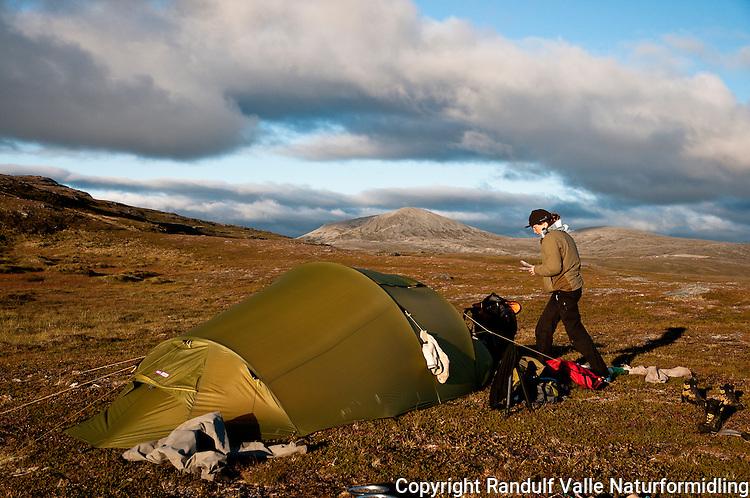 Teltleir på Sørøya i Finnmark. ---- Camp on Sørøya in Finnmark.