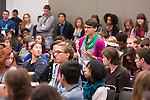 The Economic Justice & Empowerment: Challenging Classism in our Communities session at Powershift. Over six thousand young people from all over the country are converging in Pittsburgh, PA for Power Shift 2013, a massive training dedicated to bringing about a safe planet and a just future for all people. (Photo by: Robert van Waarden)