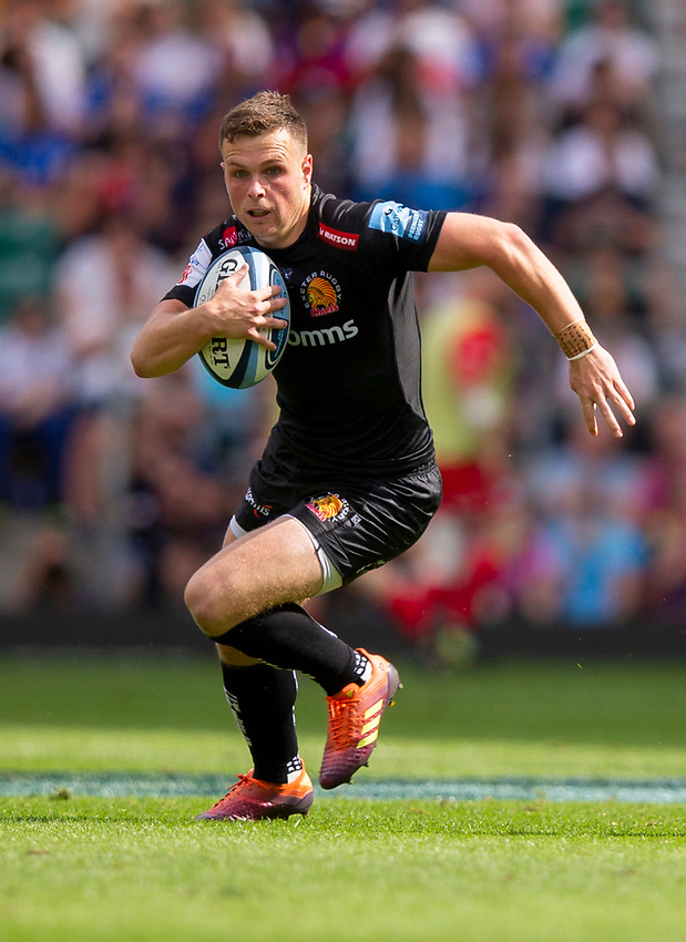 Exeter Chiefs' Joe Simmonds<br /> <br /> Photographer Bob Bradford/CameraSport<br /> <br /> Gallagher Premiership Final - Exeter Chiefs v Saracens - Saturday 1st June  2018 - Twickenham Stadium - London<br /> <br /> World Copyright © 2019 CameraSport. All rights reserved. 43 Linden Ave. Countesthorpe. Leicester. England. LE8 5PG - Tel: +44 (0) 116 277 4147 - admin@camerasport.com - www.camerasport.com