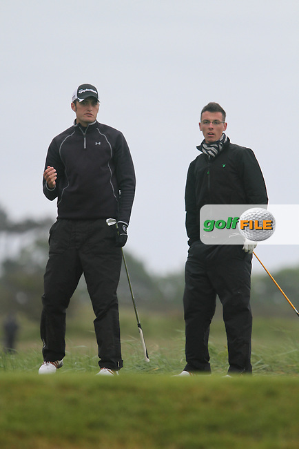 Shane McGlynn (Carton House) and Andrew Kelly (Muskerry) on the 10th tee on Day 2 of the East of Ireland Amateur Open Golf Championship at Co.Louth Golf Club, Baltray...(Photo Jenny Matthews/www.golffile.ie)