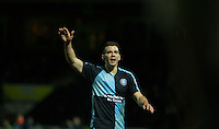 Matthew Bloomfield of Wycombe Wanderers during the Sky Bet League 2 match between Yeovil Town and Wycombe Wanderers at Huish Park, Yeovil, England on 24 November 2015. Photo by Andy Rowland.